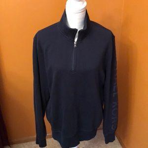 Michael Kors pullover 1/4 zip sweatshirt. Blue